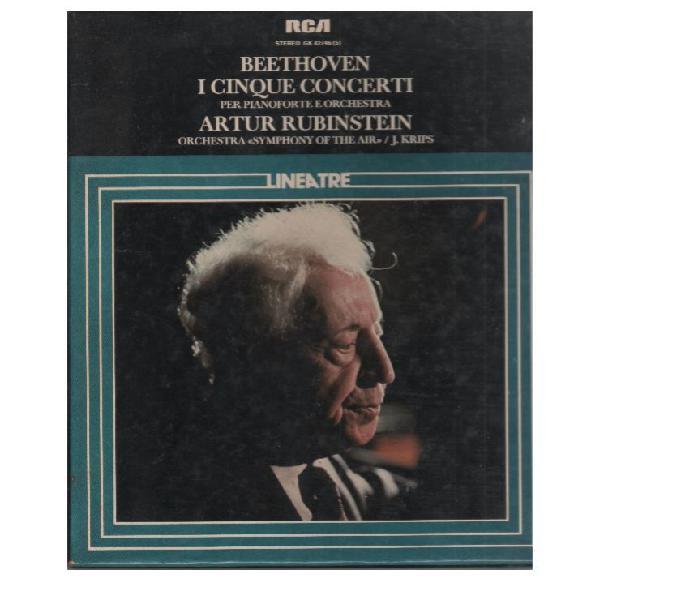 Beethoven, rubinstein 5 mc7 i cinque concerti per pianoforte colbordolo - collezionismo in vendita