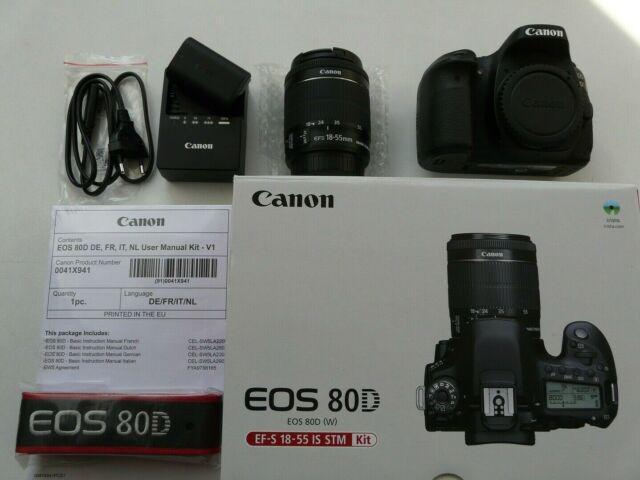 Canon eos 80d kit 18-55 mm