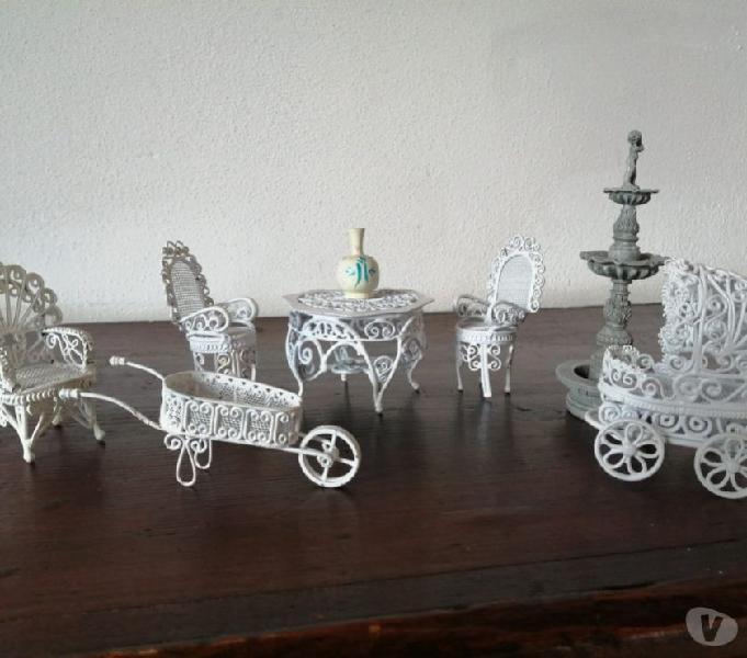 Mobili da giardino in ferro casa bambole doll's house felino - collezionismo in vendita