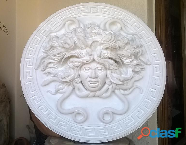 ''L'ira di Medusa'', Medusa scultura diametro 49 cm