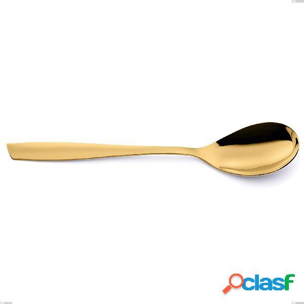 Cucchiaio tavola eleven pvd gold, acciaio 18/10 lucido, spessore 2.5 mm, pvd oro