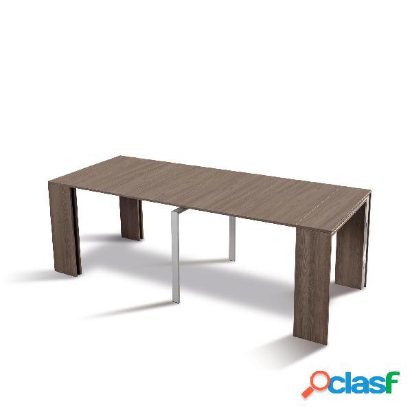Tavolo consolle allungabile richiudibile in soli 50 cm apertura max 2.25x90xh75mt aperto leonardo