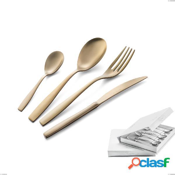 Confezione a libro 6 pezzi cucchiaino moka eleven sahara 2,5 mm brunita sabbiata, acciaio inox 18/10 (aisi 304), spessore 2,5 mm