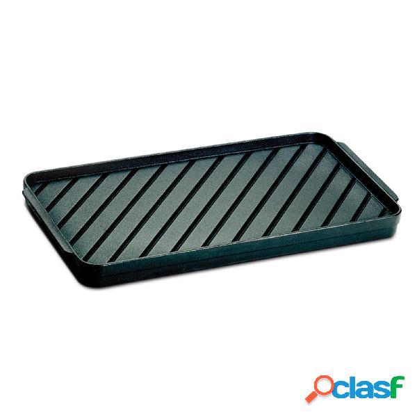 Bistecchiera in ghisa rettangolare 38.5x19.5 cm adatta a cucinare pesce, carne, verdure senza grassi