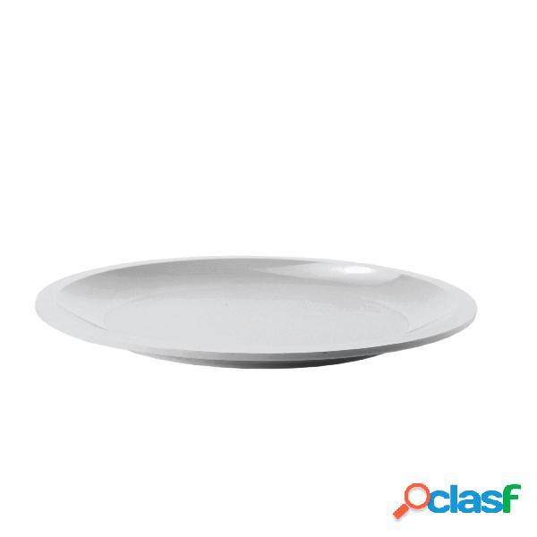 Piatto piano 1 pezzo in polipropilene diametro 26 cm ideali per forno microonde e lavastoviglie grigio mat