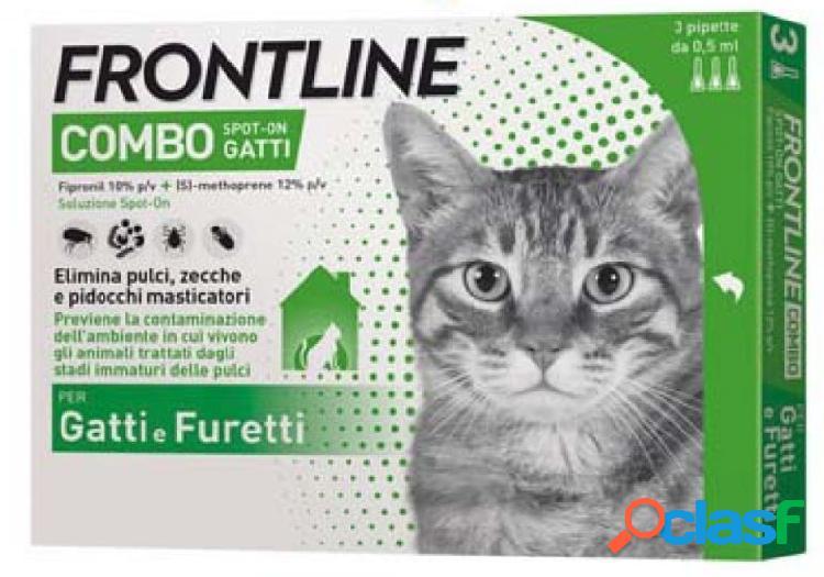 Frontline combo antiparassitario per gatti e furetti spot 3 x 0.5...