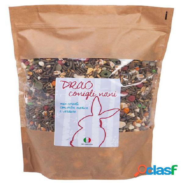 Drao conigli nani mix cereali con verdure erba medica e verdure 700 gr
