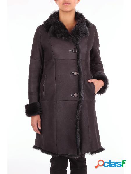 Gms-75 cappotto donna nero