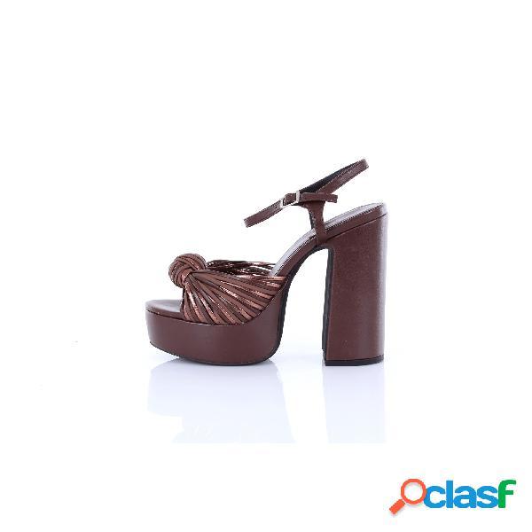 Jeffrey campbell sandali eco-pelle di colore marrone