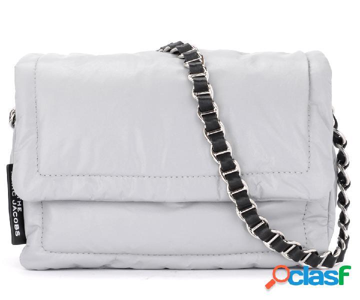 Borsa a tracolla the marc jacobs pillow bag in pelle grigia