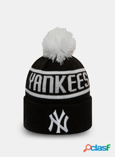 Cappello in maglia con pon pon new york yankees