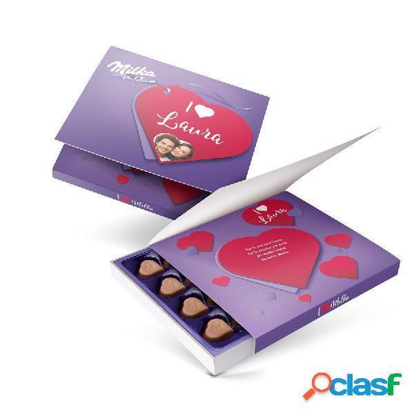 Confezione regalo say it with milka - amore - 110 grammi