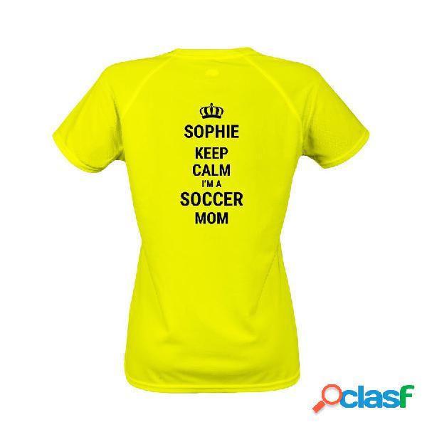 T-shirt sportiva da donna - giallo - m