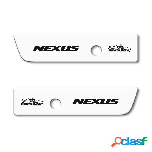 Adesivi 3d protezione tappi specchietti compatibili con gilera nexus - bianco
