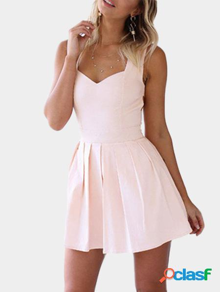 Yoins cuore mini abito da festa ritagliato rosa