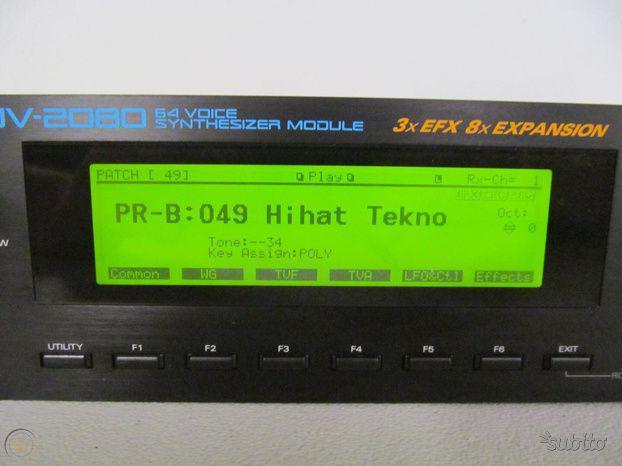 Espander roland jv2080/1080 + opzional schede jv-80