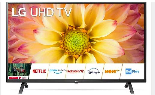 Lg smart tv 75 pollici 4k ultra hd led tv smart webos 5.0
