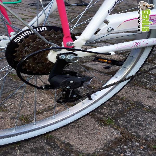 City bike bambina ruote 26, età 8/12 anni, equipaggiata