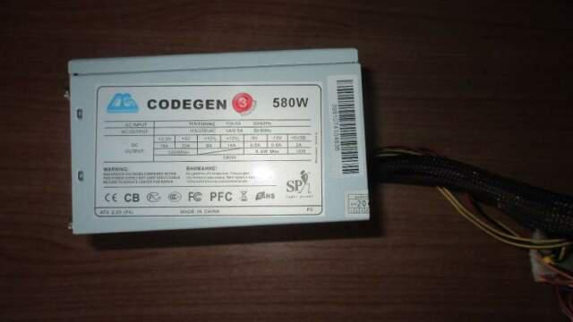 Alimentatore atx pc da 580w codegen (> 550w)