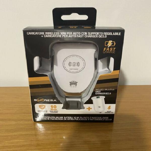 Caricatore wireless/supporto auto smartphone