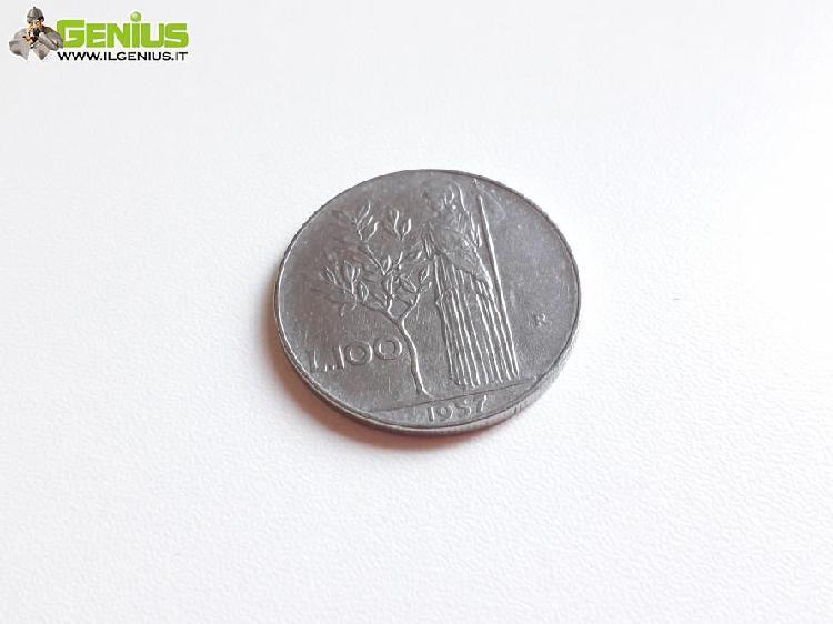 Moneta 100 lire, repubblica italiana anno 1957 vendo