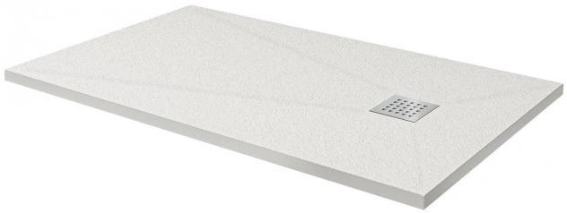 Piatto doccia 90x140 cm in pietra fosterberg silene bianco