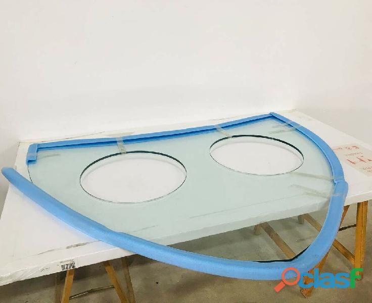 TOP vetro per mobile bagno due lavabi