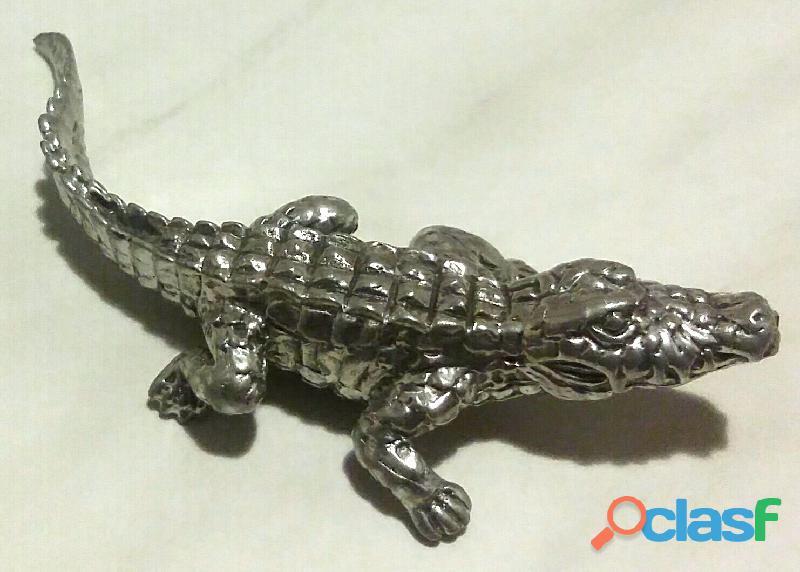 Alligatore coccodrillo, in argento sterling 925% con charm gators