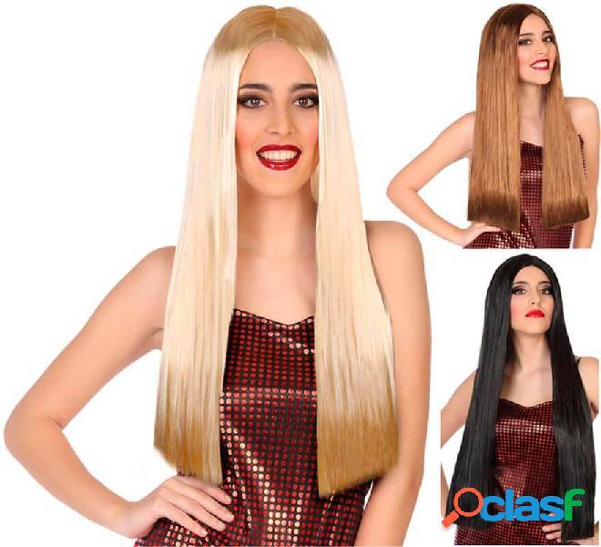 Parrucca lunga e liscia da 60 cm in vari colori