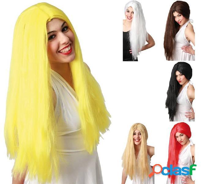 Parrucca lunga liscia in vari colori