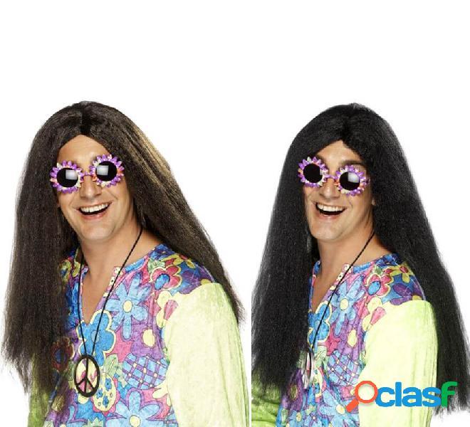 Parrucca afro hippy lunga in vari colori
