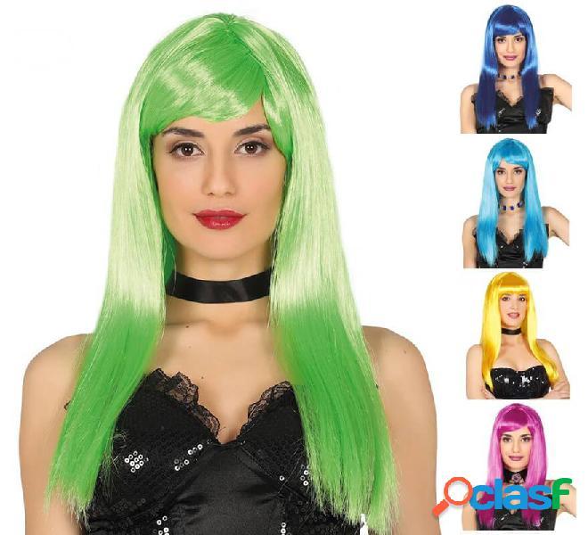 Parrucca lunga con frangetta in vari colori