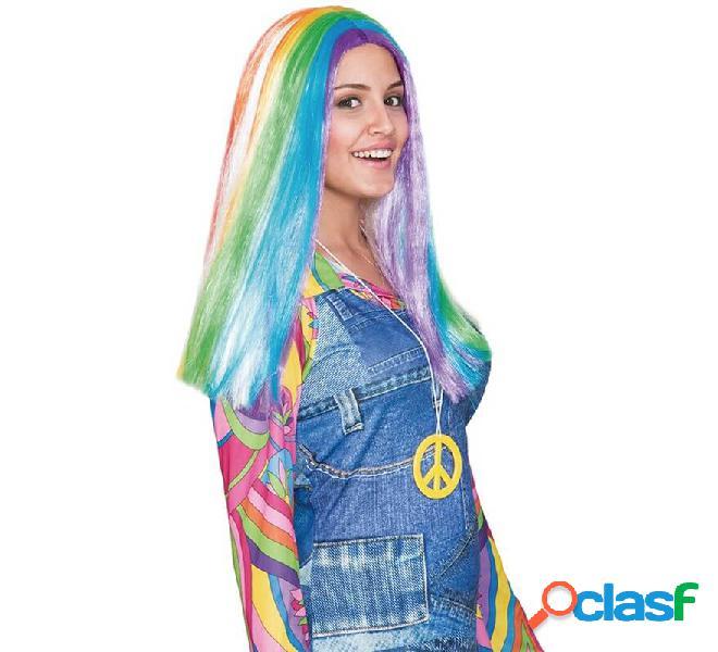 Arcobaleno liscia parrucca lunga