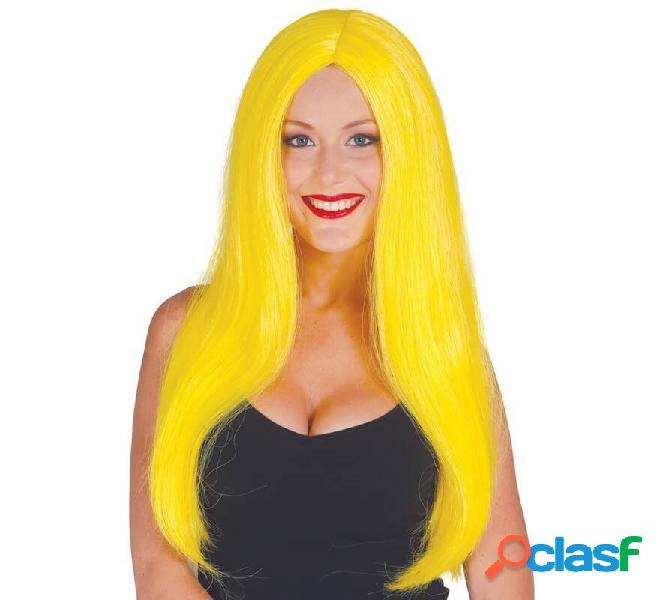 Lunga e liscia parrucca gialla