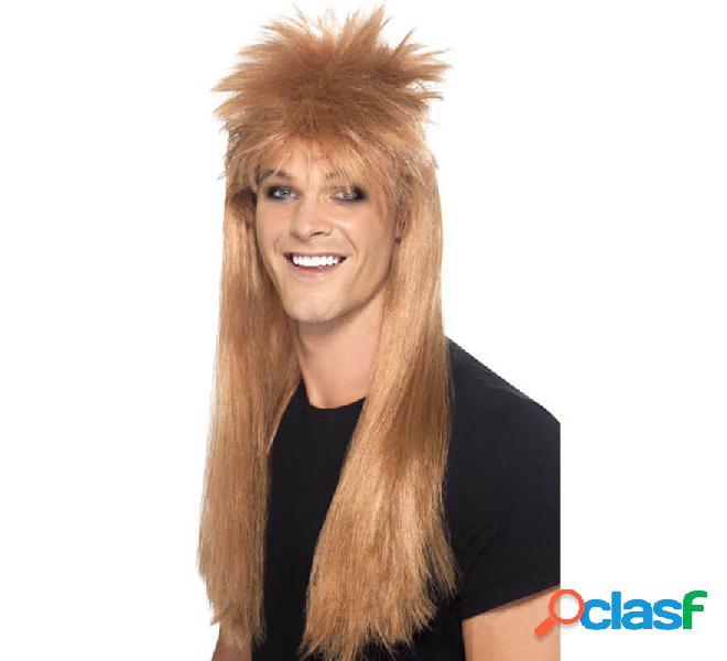 Parrucca stile rocker stile muggine bionda lunga