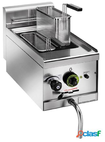 Bollitore pasta elettrico con potenza 3500 w, 2 cestelli, rubinetto e capacità 11 litri