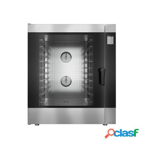 Forno a gas convezione-vapore-misto, touch screen, per 10 teglie gn1/1 o 600x400 mm con lavaggio automatico