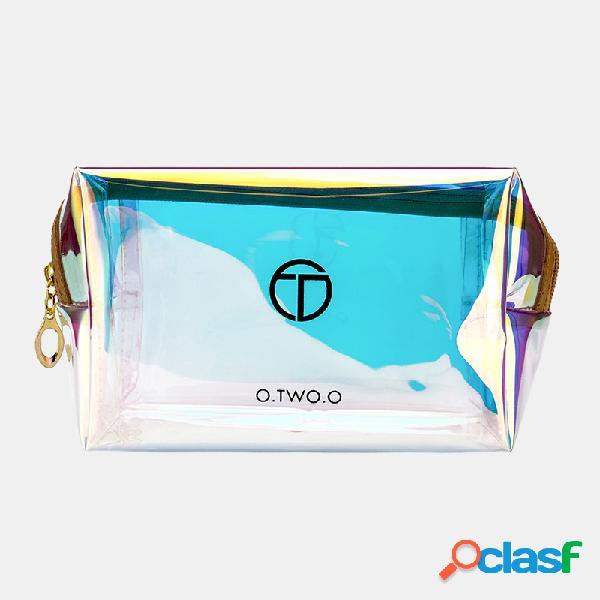 Colorful laser cosmetici borsa portable travel cosmetic storage borsa lavaggio impermeabile borsa