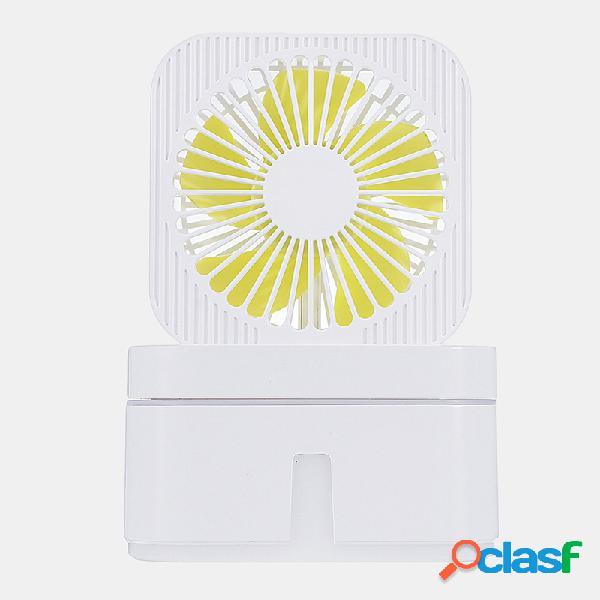 2 in 1 cube umidificatore ad ultrasuoni elettrico ventilatore 3 velocità usb aroma therapy foschia diffusore