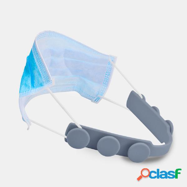 4 pezzi silicone slot faccia gancio per l'orecchio maschera corda gancio 3 ingranaggi ausiliario regolabile universale