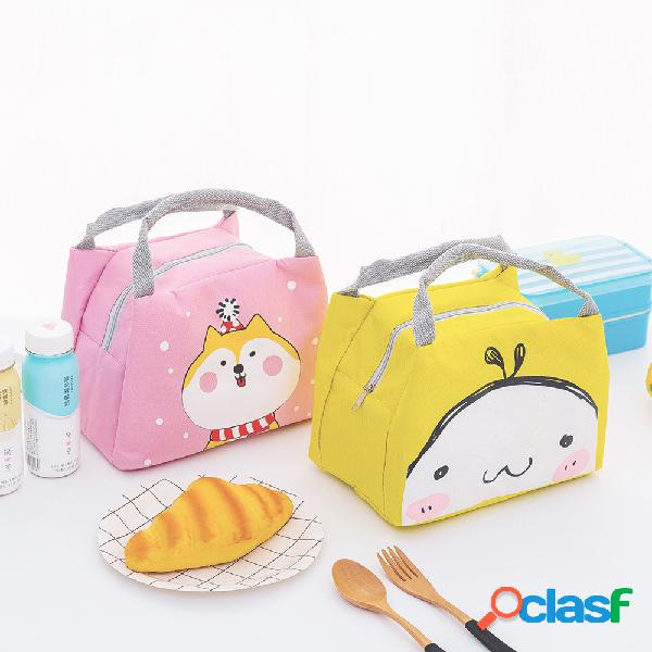 Tote da pranzo portatile addensata borsa oxford borsa termica impermeabile con isolamento termico contenitori di stoccaggio carini