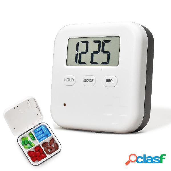Loskii cr-210 electronic timing medication organizzatore custodia per pillola mini portatile giornaliera per vitam