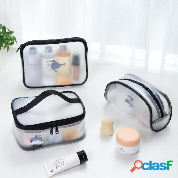 Trasparente cosmetico borsa portatile da viaggio portatile impermeabile borsa articoli da toeletta borsa