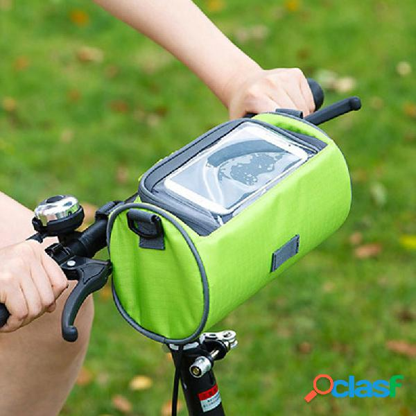 Oxford cloth material zipper solid color outdoor sports riding borsa bicycle visual storage borsa