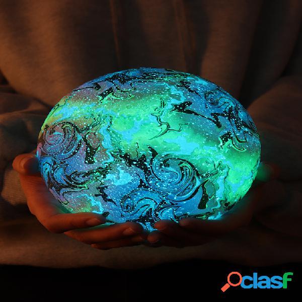 Nuova stampa 3d moon lampada spazio decorazioni natalizie led luce notturna remoto controllo regalo usb ricaricabile