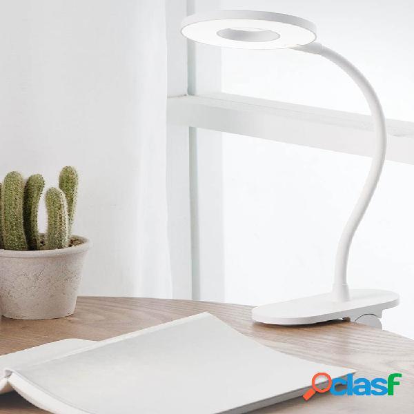 Yeelight led usb ricaricabile clip da tavolo lampada da tavolo protezione per gli occhi dimmer tattile 3 modalità di lettura lampada