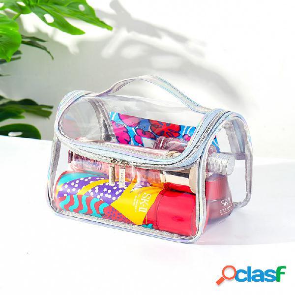 Lavaggio ad alta capacità impermeabile in pvc trasparente borsa bagno borsa cosmetico portatile borsa stoccaggio per il nuoto borsa