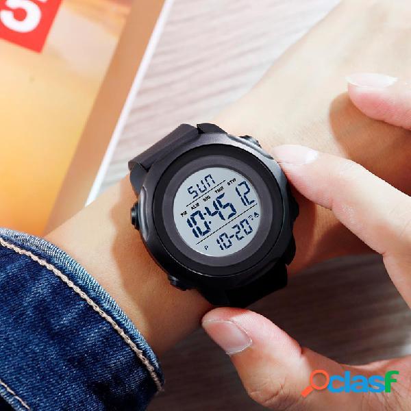Orologio da uomo sportivo da esterno con quadrante grande, orologio da polso digitale multifunzione con allarme impermeabile da 50 m