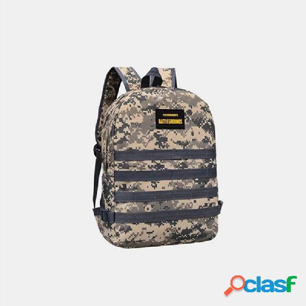 Uomini camouflage oxford cloth student school borsa fashion game zaino trend