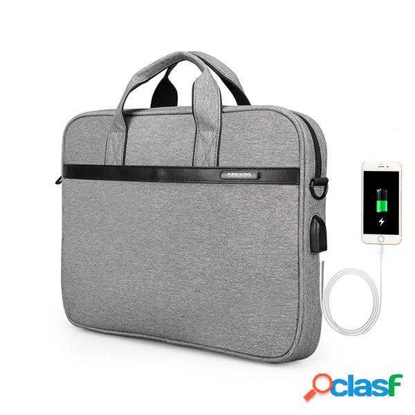 Usb travel laptop borsa messenger impermeabile borsa spalla borsa per uomo e donna